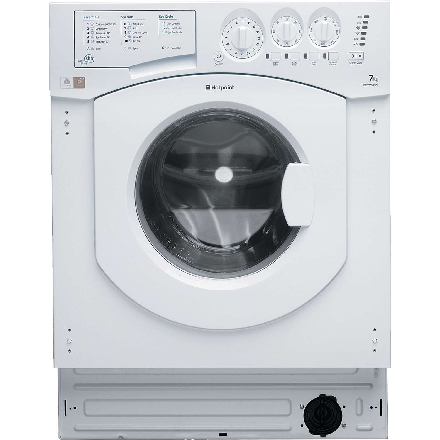 Hotpoint Bhwm1492 A   7kg 1400 Spin Integrated Washing