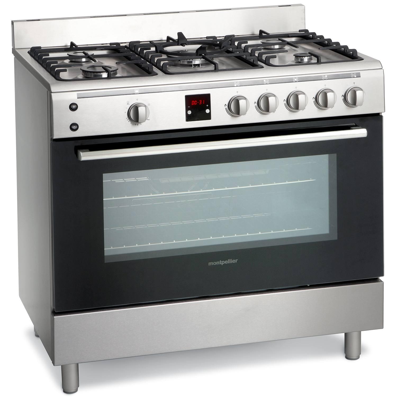 Range Cooker montpellier mr90gox 90cm single cavity gas range cooker in stainless