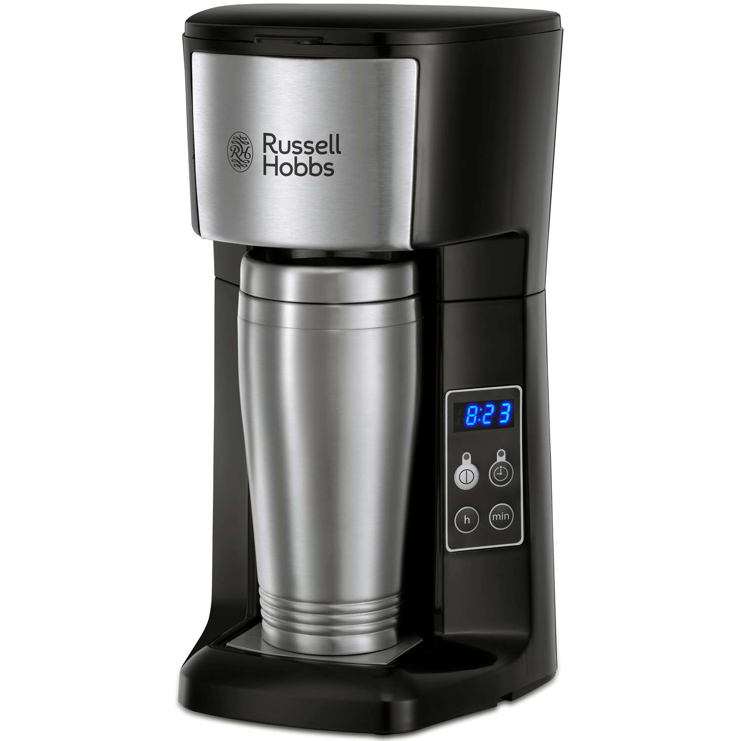 Rus Hobbs 22630 Brew Go Coffee Machine Stainless Steel With Black Accents 29 99