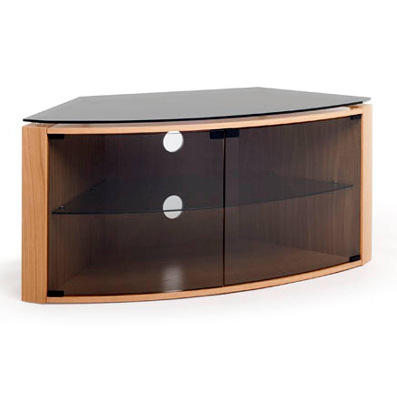 Techlink Bench B6lo Light Oak Corner Tv Stand For Up To 55