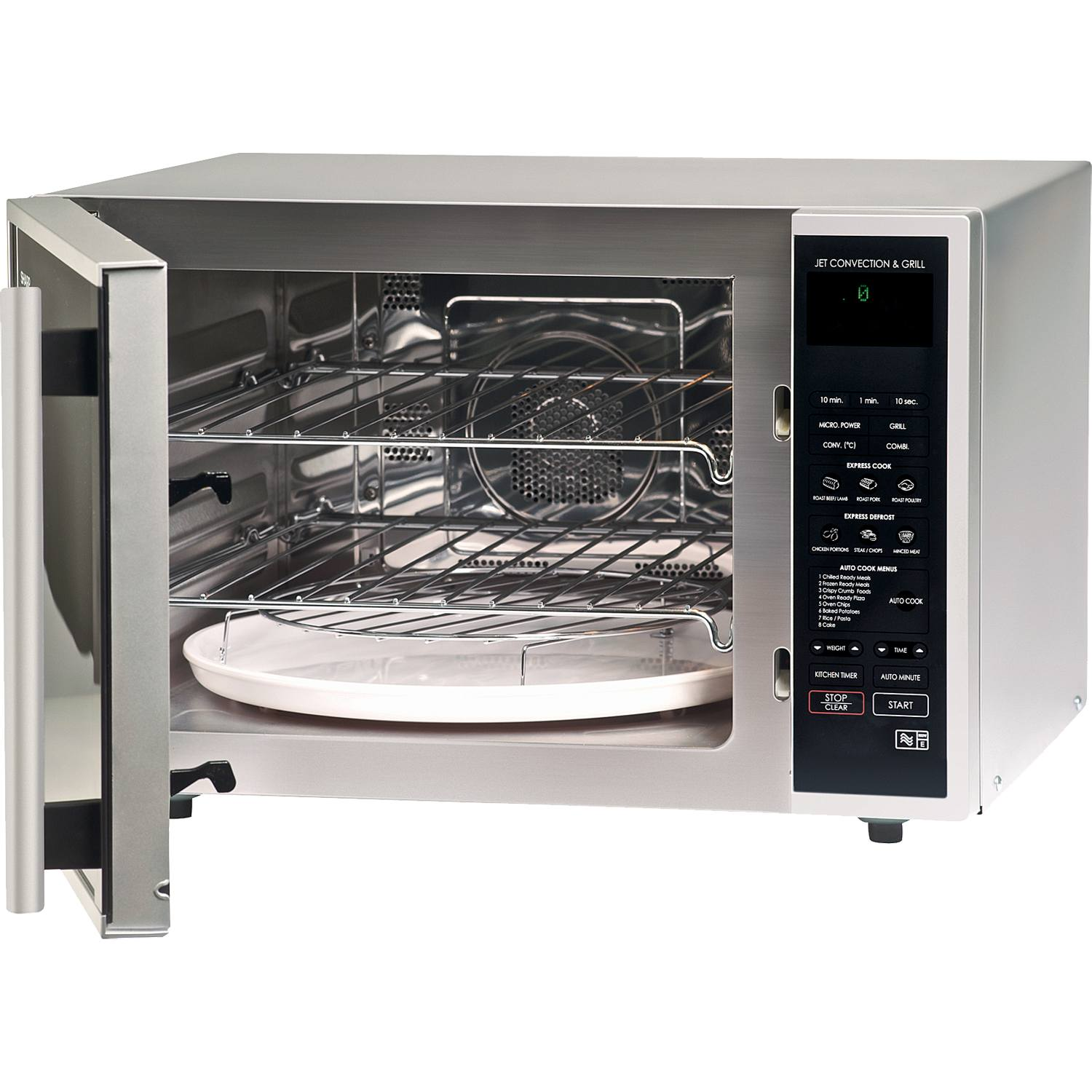 Sharp R959slmaa 40l 12 Programmes Combination Microwave Oven In Silver Black 249 00