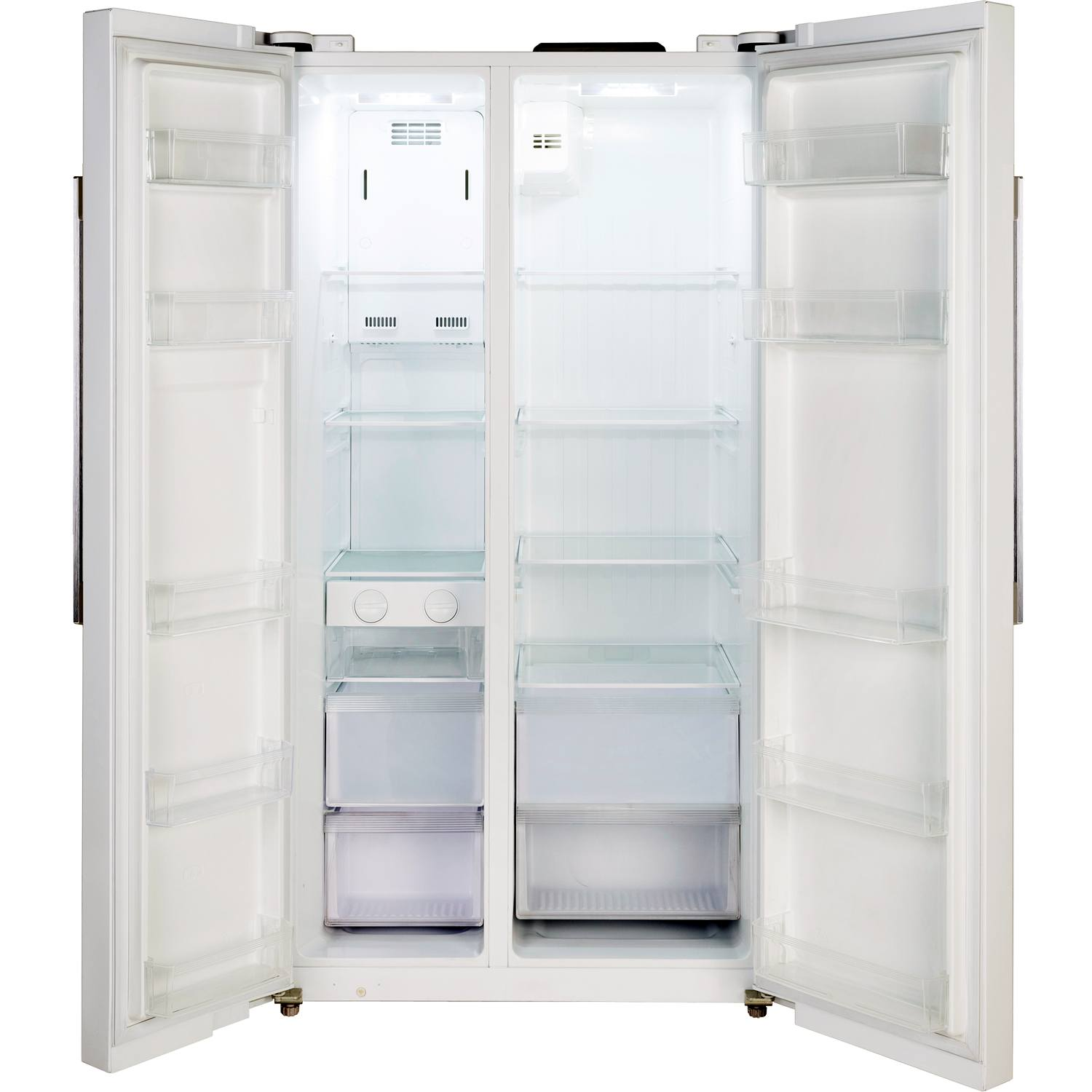 3169e3ab1fe Lec AFF90185 Side by Side Ice Dispenser Frost Free American Fridge Freezer  £599.00