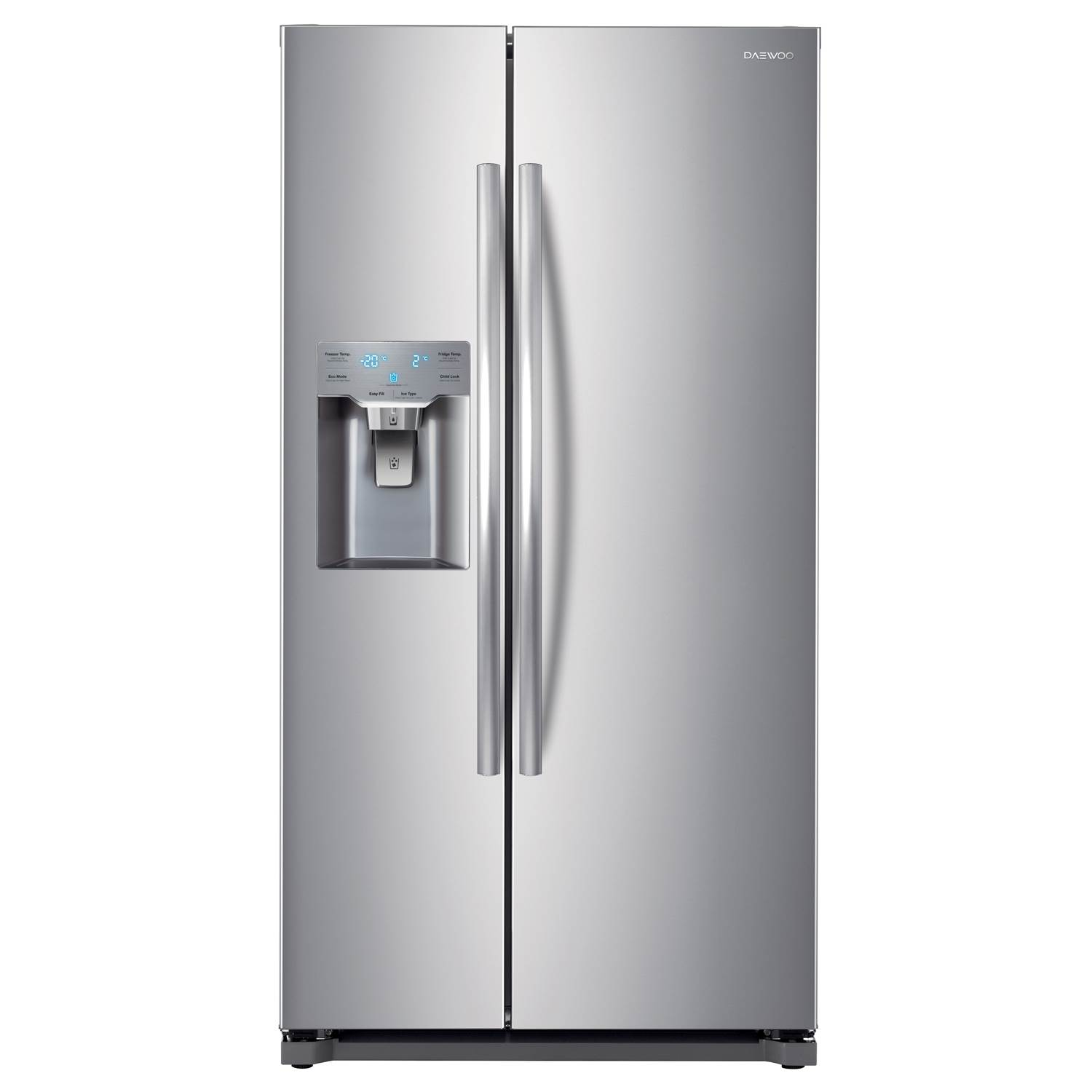 Daewoo DRZB53NPES American Style Fridge Freezer with Ice & Water in