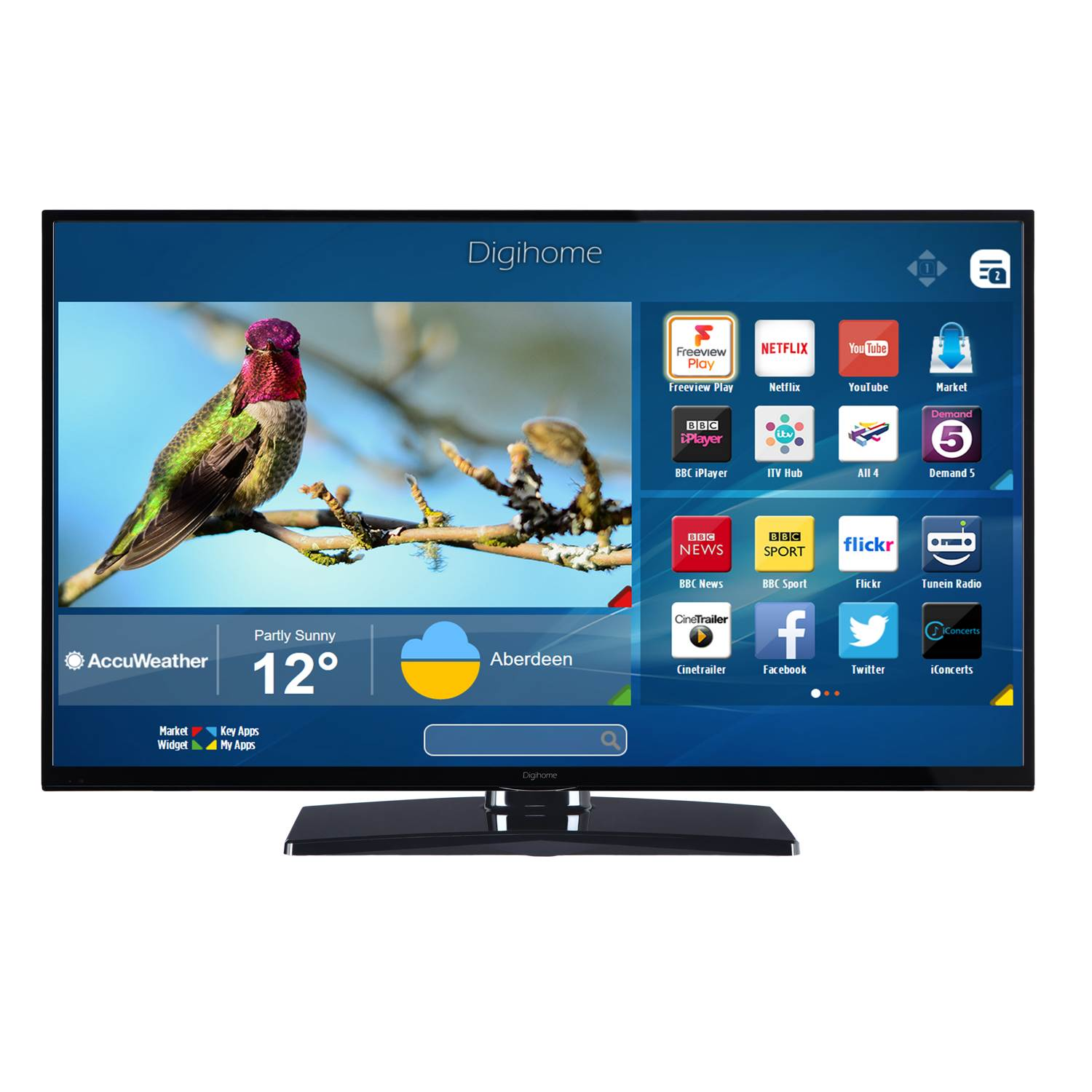 Digihome 55UHDHDR 55 Inch 4K Ultra HD HDR Freeview WiFi Smart LED TV ...