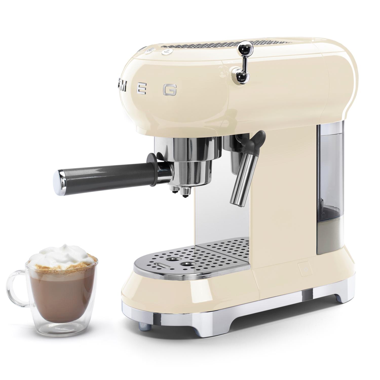Smeg ECF01CRUK 50's Style Retro 1350W Espresso Coffee ...